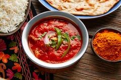Comida india de la receta de Tikka Masala del pollo Imagen de archivo
