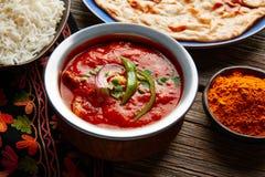 Comida india de la receta de Tikka Masala del pollo Imágenes de archivo libres de regalías