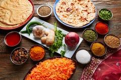 Comida india de la receta del arroz del coco Fotografía de archivo libre de regalías