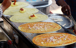 Comida india Dosa popular de la calle Fotografía de archivo libre de regalías