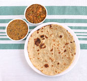 Comida india Roti Imágenes de archivo libres de regalías