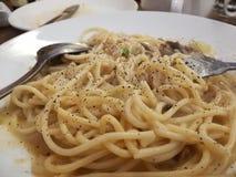 Comida italiana boloñesa de los espaguetis Foto de archivo