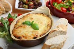 Comida italiana del Lasagna Foto de archivo libre de regalías