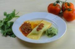 Comida italiana hecha en casa Imágenes de archivo libres de regalías
