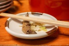 Comida japenese tradicional de la anguila de Edo foto de archivo libre de regalías