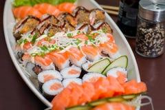 Comida japonesa combinada Imagenes de archivo