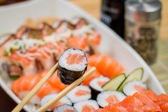 Comida japonesa combinada Foto de archivo