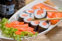 Comida japonesa combinada Foto de archivo libre de regalías