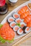 Comida japonesa combinada Imagen de archivo libre de regalías