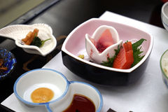 Comida japonesa fina Imágenes de archivo libres de regalías