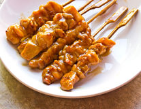 Comida japonesa, pollo asado a la parrilla Foto de archivo