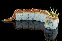 Comida japonesa Rollo de la anguila Para el menú de cafés y de restaurantes fotografía de archivo libre de regalías