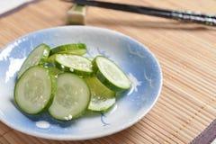 Comida japonesa, salmueras del pepino con el sésamo para la imagen del acompañamiento Imagen de archivo libre de regalías