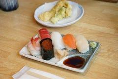 Comida japonesa - Sishi Foto de archivo