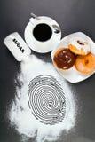 A comida lixo é crime Fotografia de Stock