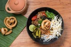 Comida local picante, comida tailandesa Imagenes de archivo