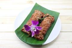 Comida local tailandesa Imágenes de archivo libres de regalías