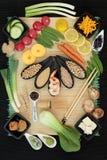 Comida macrobiótica japonesa Fotos de archivo libres de regalías