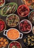 Comida mediterránea de la comida fría del terrón Foto de archivo