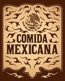 Comida Mexicana -墨西哥食物西班牙人文本 向量例证