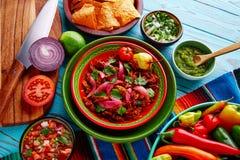 Comida mexicana de Cochinita Pibil con la cebolla roja Fotografía de archivo