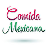 Comida Mexicana - Mexican Food Spanish text Stock Photo