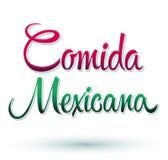 Comida Mexicana - Mexican Food Spanish text Stock Photo