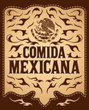 Comida Mexicana - Mexican Food Spanish text Stock Images