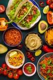Comida mexicana mezclada Imagenes de archivo