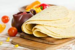 Comida mexicana - tortilla fotografía de archivo
