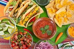 Comida mexicana tradicional Fotografía de archivo