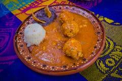 Comida mexicana tradicional deliciosa de la región de Cozumel Fotografía de archivo