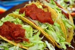 Comida mexicana y cocina - taco Imagenes de archivo