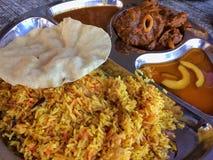 Comida musulmán india Imagen de archivo libre de regalías