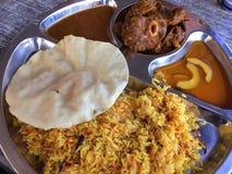 Comida musulmán india Imagen de archivo