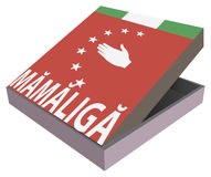 Comida nacional de Abjasia - Mamaliga Fotografía de archivo