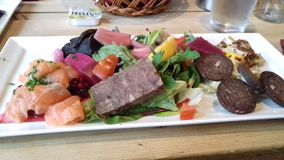 Comida noruega Imagenes de archivo