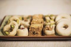 Comida oriental para el período del Ramadán Fotos de archivo libres de regalías