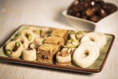 Comida oriental para el período del Ramadán Imagen de archivo libre de regalías