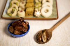 Comida oriental para el período del Ramadán Fotografía de archivo