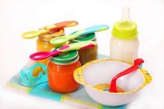 Comida para bebé Imagem de Stock Royalty Free