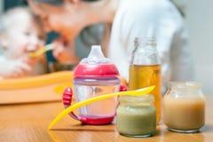 Comida para bebê saudável e natural Fotos de Stock Royalty Free
