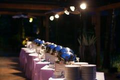 Comida para la cena de boda Fotos de archivo libres de regalías