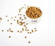 Comida para los gatos Fotos de archivo