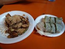 Comida parcialmente comida de la calle Imagen de archivo libre de regalías
