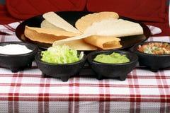 Comida perfecta mexicana del Tacos Imagen de archivo