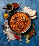 Comida picante de la carne del curry del masala del tikka del pollo Foto de archivo