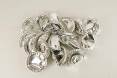 Comida redonda del papel de aluminio Imagen de archivo