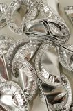 Comida redonda del papel de aluminio Foto de archivo libre de regalías