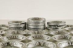 Comida redonda del papel de aluminio Imagen de archivo libre de regalías